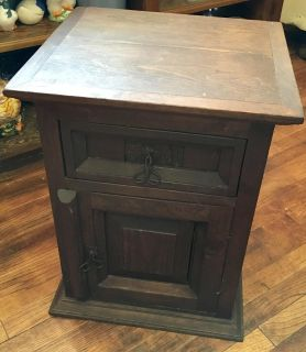 Country Rustic Pine Nightstand