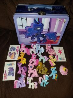 Blind bag my little pony lot with tin lunch box