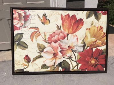 Canvas floral artwork