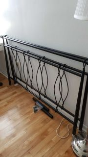 Queen size head board and footboard