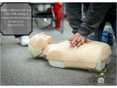 CPR training only takes 1 day of training! Call and register today!