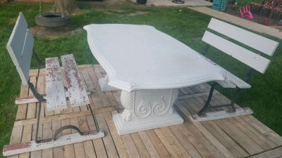 Stone/concrete Patio table