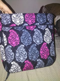 brand new vera bradley double mail bag and matching wallet