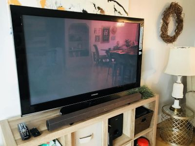 50 Samsung TV with Sony Sound Bar and Sub