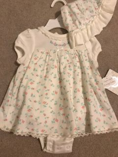 NWT Little Me 6 months floral dress