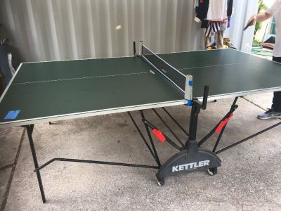 Kettler Ping Pong Table with Paddles and Balls