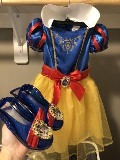 3-4T NWOT Disney Snow White costume and shoes