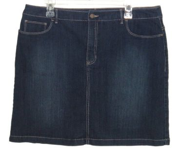 Womens 16 Croft & Barrow Classic Fit Denim Jean Skort Womens 16 Skirt Shorts Plus 16w