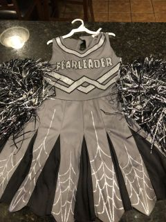 Target brand girl Fearleader zombie cheerleader costume. Size M. Good condition some pull in front in pictures. Includes 2 Pom poms. $4