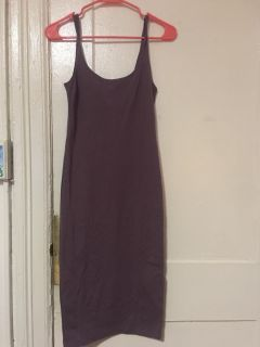 Size small, fitted purple dress