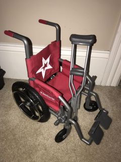 American Girl Doll wheelchair and crutches