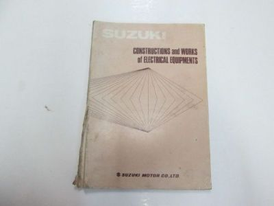 Buy Suzuki Constructions & Works of Electrical Equipment Manual DAMAGED FADED STAINS motorcycle in Sterling Heights, Michigan, United States, for US $29.99