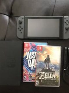 Nintendo Switch (rarely used) + 2 Games