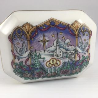 Melodies-of-Christmas-HERITAGE-HOUSE-Porcelain-Music-Box- O Holy Night