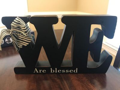 We are blessed home decor