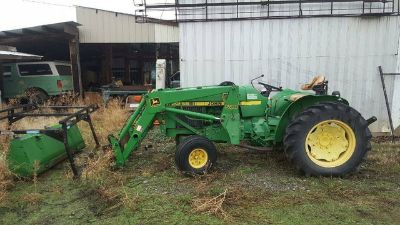 1983 John Deere Tractor 2255 Loader, Spayer, Mower, Snow Blower