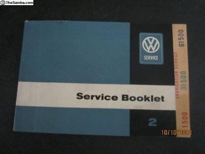 Early Bus Type 2 Service Booklet Microbus Deluxe