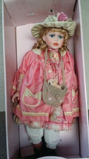 "Genuine Porcelain 28"" Collectible Doll"