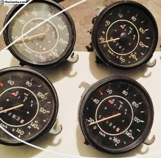 Kilometer speedometer 160 km