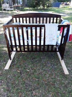 Baby crib with Sealy mattress