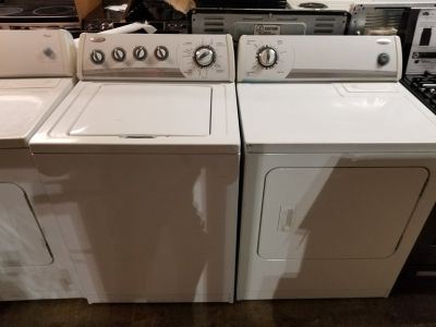 Refurbished whirlpool washer and dryer set warranty/delivery/installation