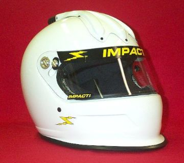 Sell Impact Super Charger Air Racing Helmet White SA2015 Your Choice of size motorcycle in Waterloo, Iowa, United States, for US $499.00