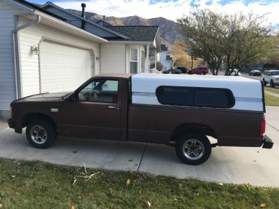 1988 Chevrolet S-10 Pickup with Camper Shell