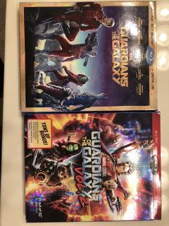 Guardian of the Galaxy 1 &2 Blue Ray and Digital HD combo.