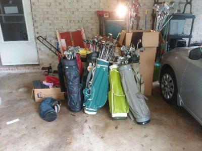 Golf clubs, bags, and accessories for sale
