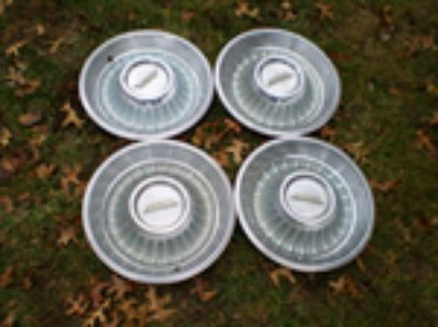 Parts For Sale: RARE Vintage Set Of 4 1962 Cadillac Hubcaps Deville Fleetwood El Dorado RAT ROD
