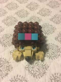 LEGO hedgehog kit. Top opens up to store treasures. All pieces and instructions included.