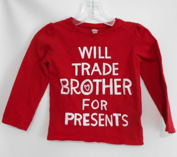 """New Christmas """"Trade Brother"""" T-shirt 4T"""