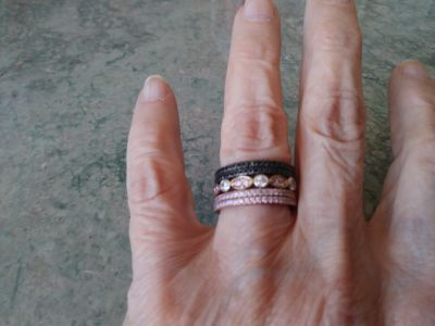 Size 7 stack rings