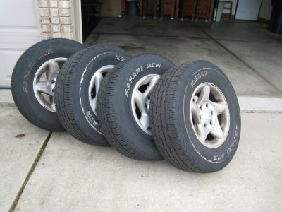 Set of 4 Toyota Tacoma Rims and Tires