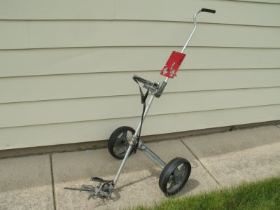 All metal lightweight 2 wheel golf cart