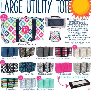 ISO thirty one large utility tote