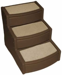 Pet Gear Easy Step III Extra Wide Pet Stairs, 3-step/for cats and dogs up to 200-pounds