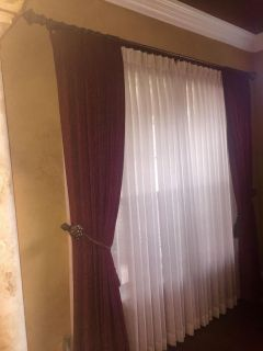 Custom drapes with all accessories