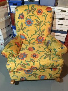 Floral Upholstered Rocking Chair