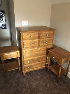 Dresser and two night stands