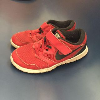 Red Nike sneakers child size 13