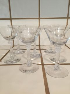"""7 Crystal Glasses 5"""" tall"""