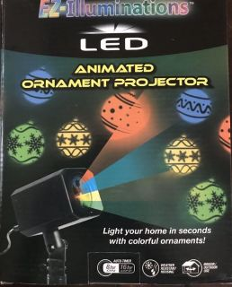 Animated LED ornament projector - Int/ext Christmas light show