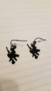 Flying witch earrings. MEET AT GRIFFIN WALMART