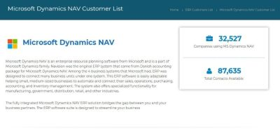 Buy an Exhaustive Microsoft dynamics NAV customers List from Installed Base