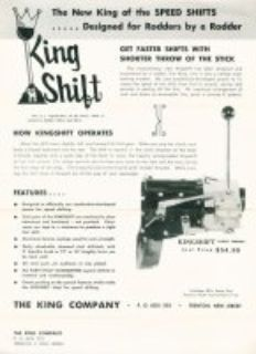 KINGSHIFT Shifter unit for the 1940-70 s Standard 3 Speed Transmissions