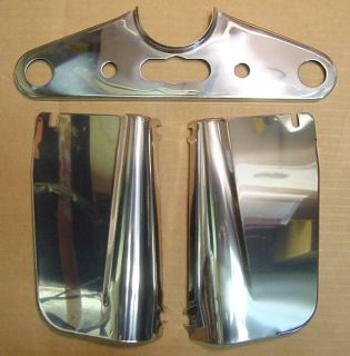 Purchase Front Fork Cover Panel Kit Harley Panhead Rear & Top motorcycle in Chicago, Illinois, US, for US $79.99
