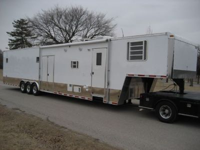 Enclosed Racing Trailer With Living Quarters