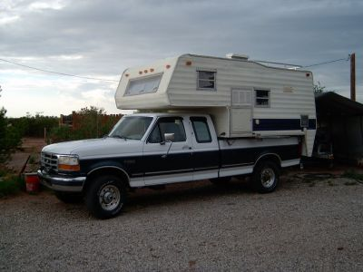 HUNTERS SPECIAL...1996 F-250 4X4 WITH CAMPER