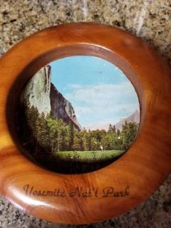Yosemite 1960's Souvenir wood wall plaque